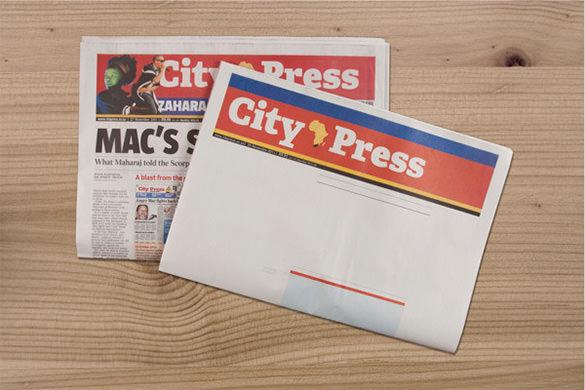 city pressblank newspaper template
