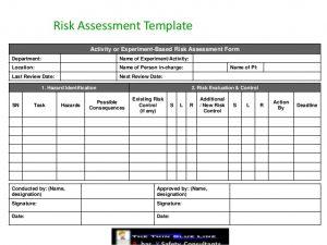 construction risk assessment sample form