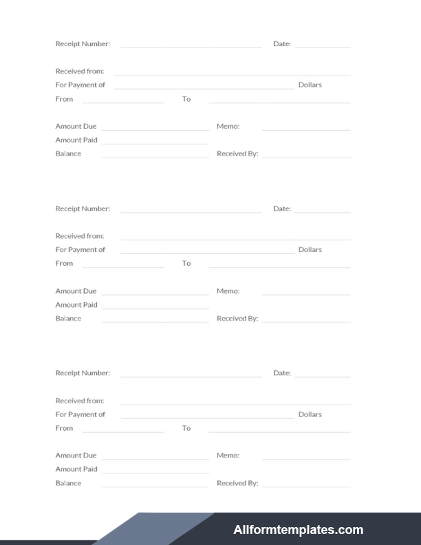 Rent Receipt Template Word Doc