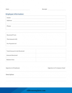 Official Receipt Template Word Doc