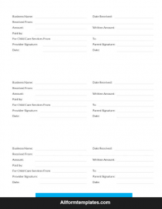Rent Receipt Template Google Docs