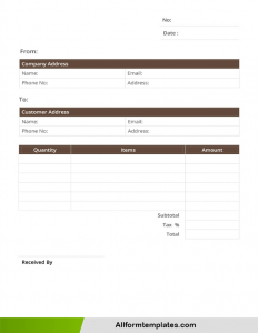 Credit Card Receipt Template Word Doc