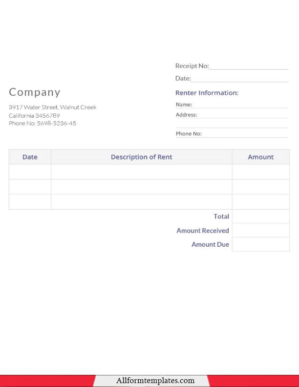 Official Receipt Template PDF