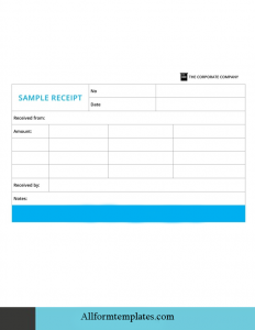 Officials Receipt Template Google Docs