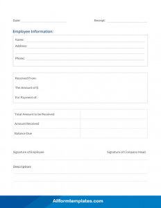 Delivery Receipt Template PDF