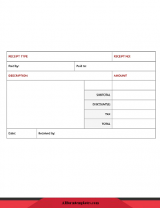Sample Donation Receipt Template