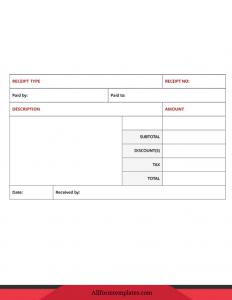 Sample Official Receipt Templates