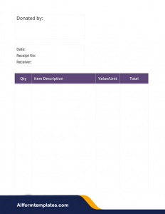 Blank Delivery Receipt Template