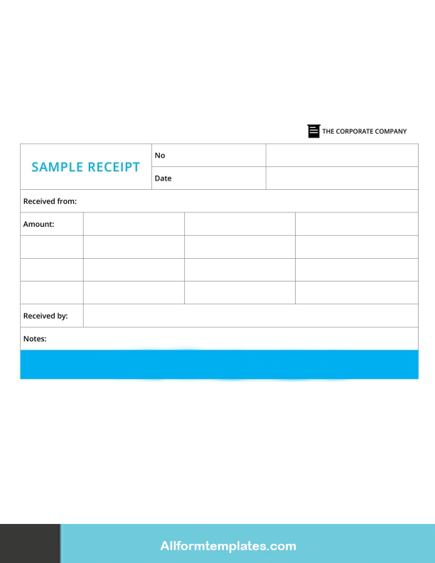 Hotel Receipt Template Word Doc
