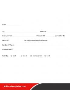 Hotel Receipt Template Excel