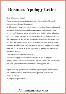 How To Write an Apology Business Letter