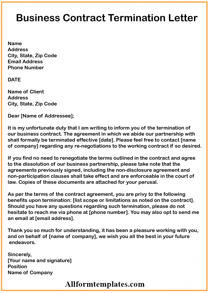 Termination Of Contract Letter from www.allformtemplates.com