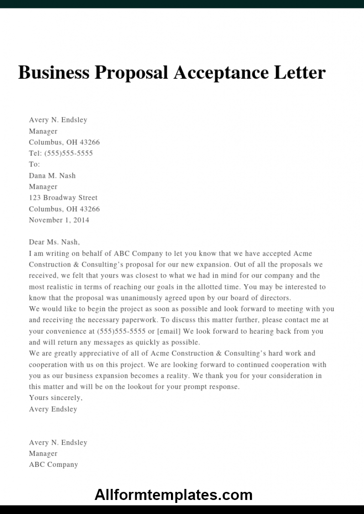 Business Proposal Letter For Partnership