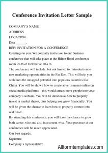 Business Letter Of Invitation For Visa