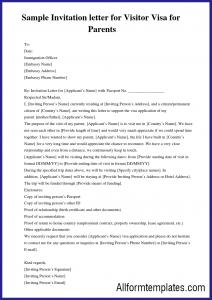 Business Letter Of Invitation For Visa