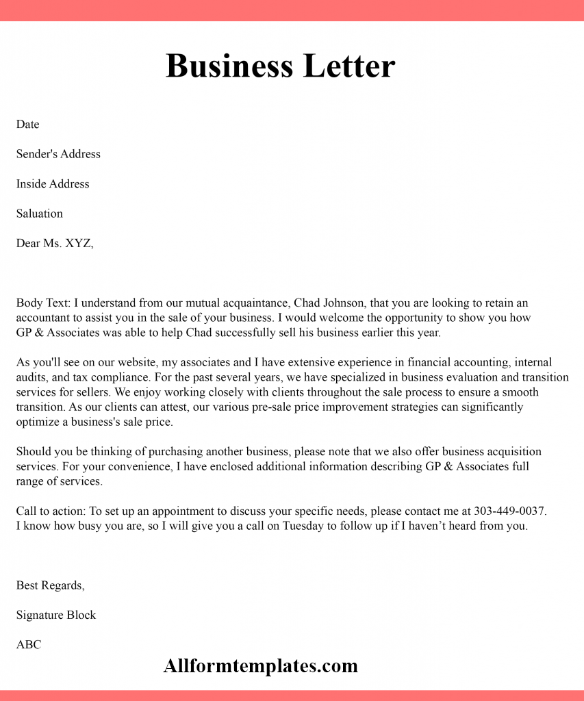 What Is Business Letter Writing from www.allformtemplates.com