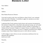 Simple Business Letter Sample