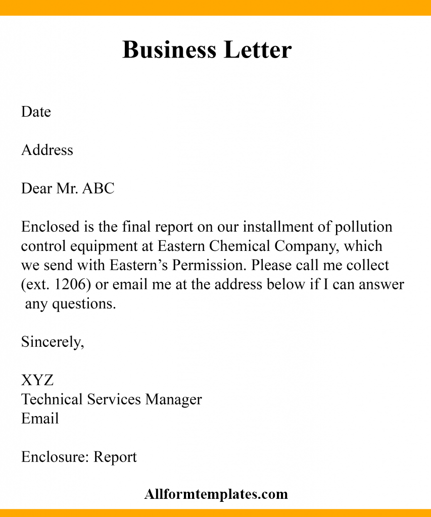 Business Letter Writing Examples