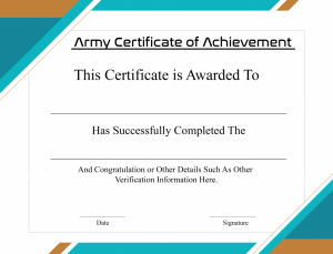 Certificate of Academic Achievement For Students