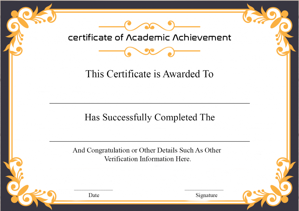 What is a Certificate of Achievement