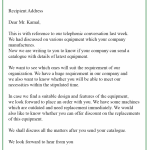 Inquiry Business Letter Sample
