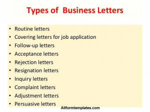 Types Of Business Letter Format