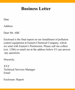 Business Communication Letter Samples