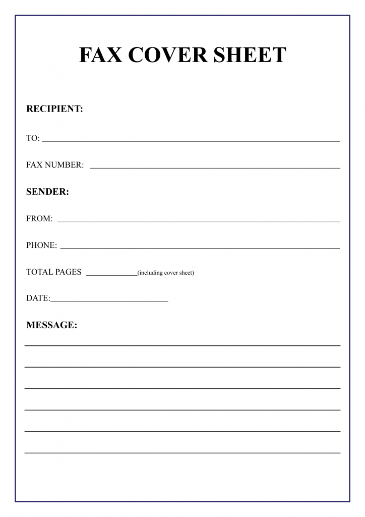 photograph regarding Fax Form Template known as 10+ Cost-free Fax Deal with Sheet Template [Printable] All Sort