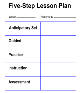 Five-Step Lesson Plan