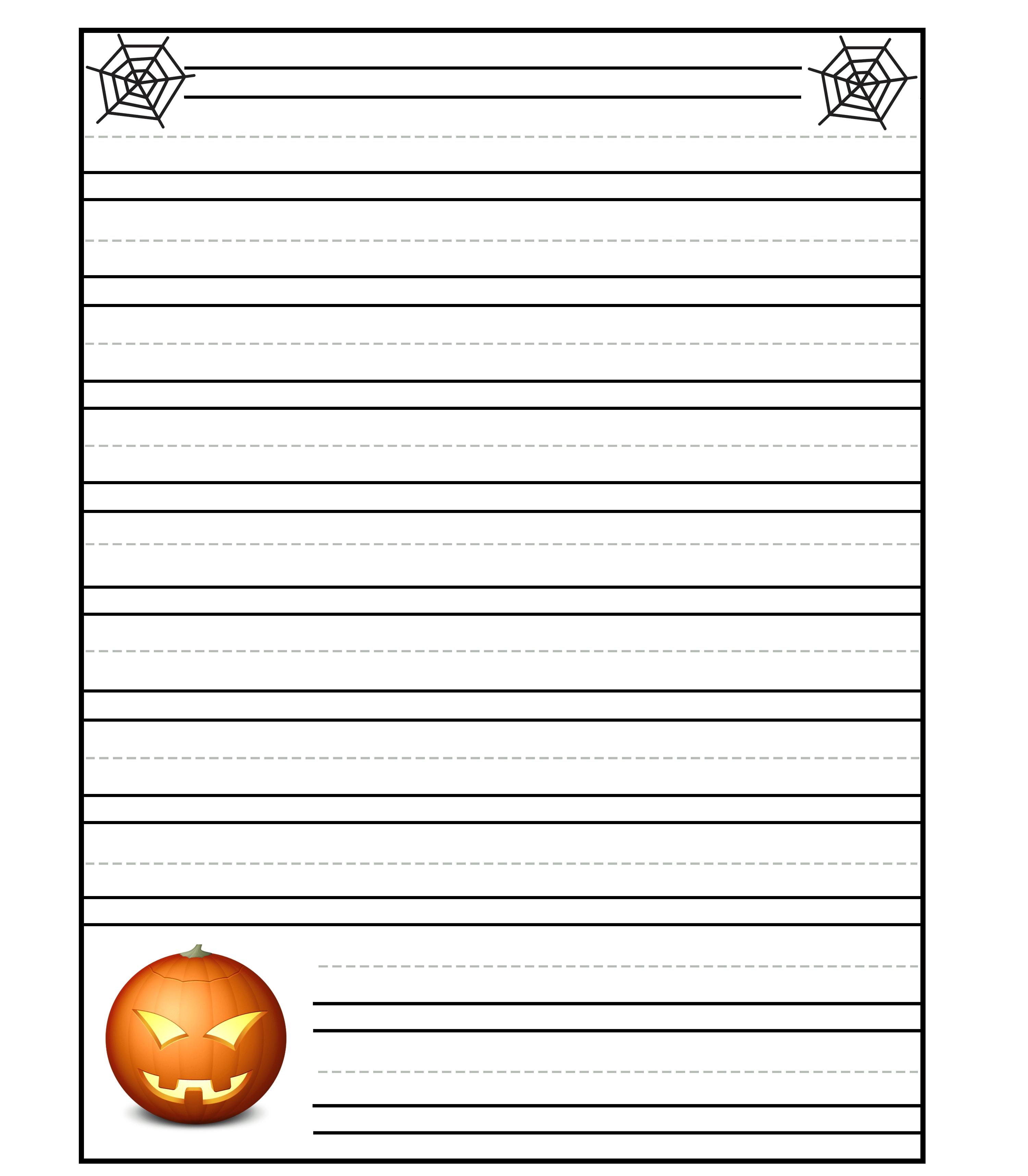 Halloween Writing Paper-min