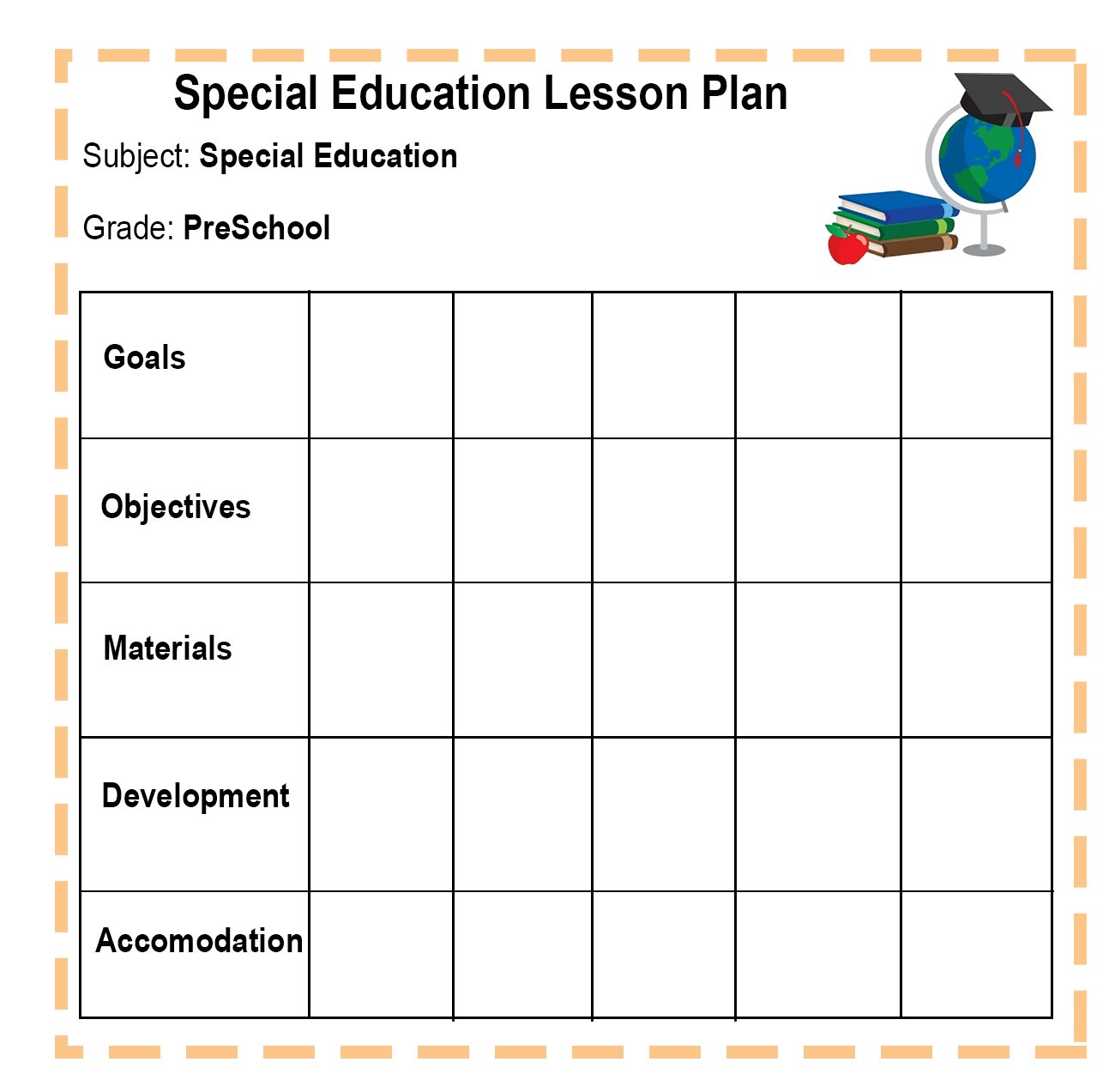 Special Education Lesson Plan-min