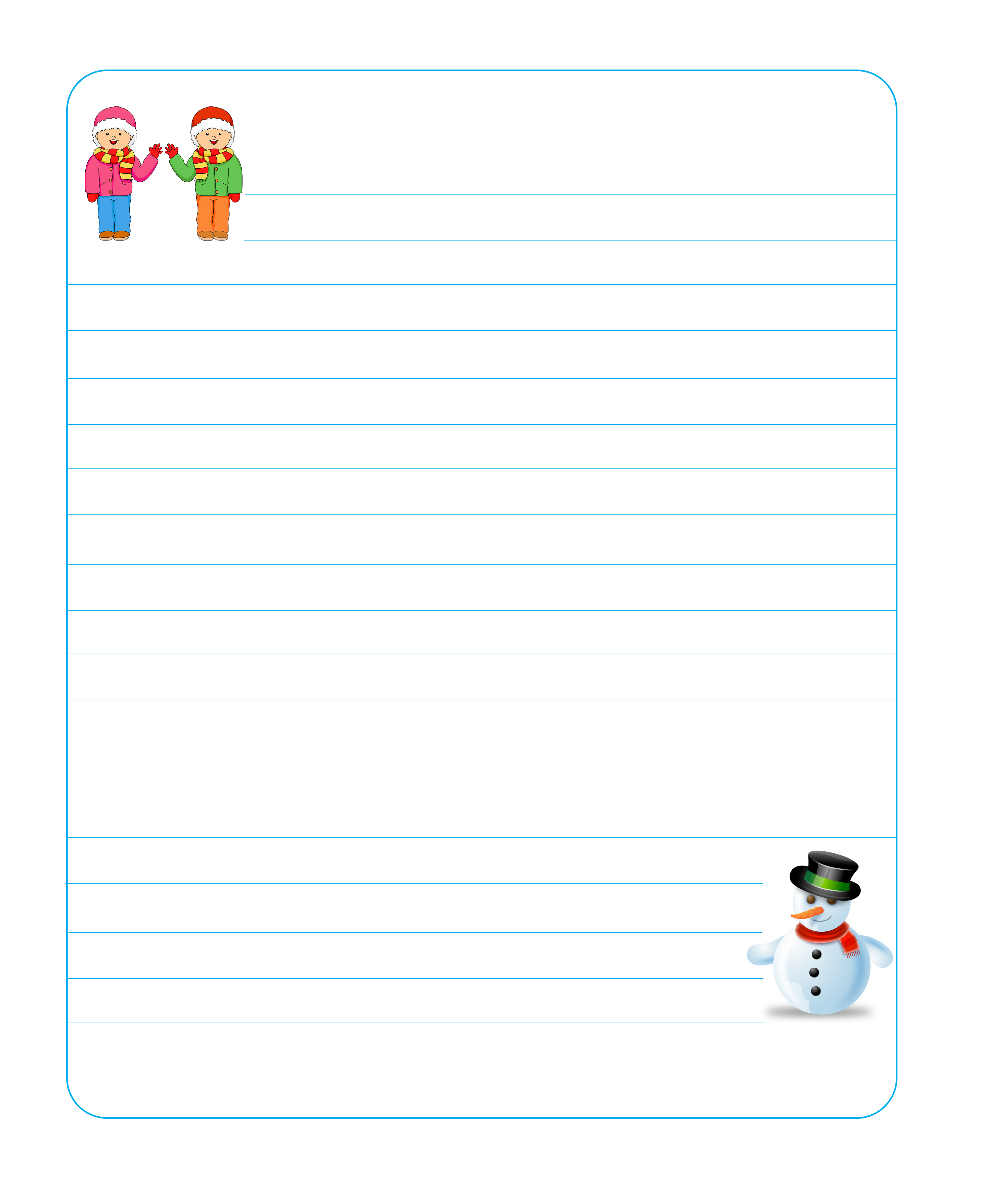 Winter Lined Writing Paper (1)