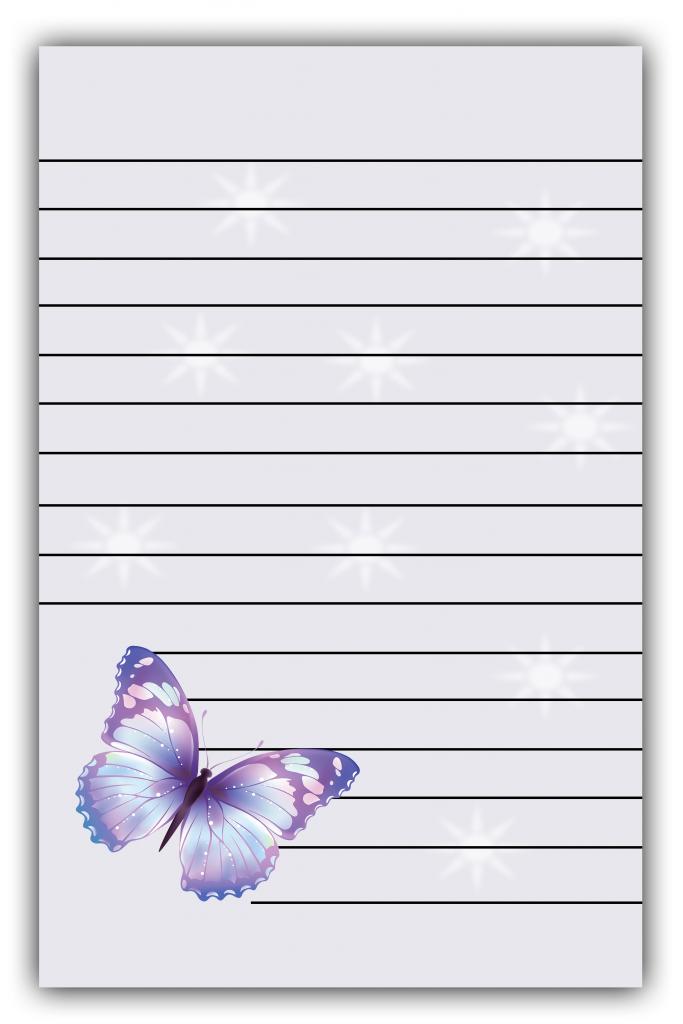 Butterflies Lined Paper