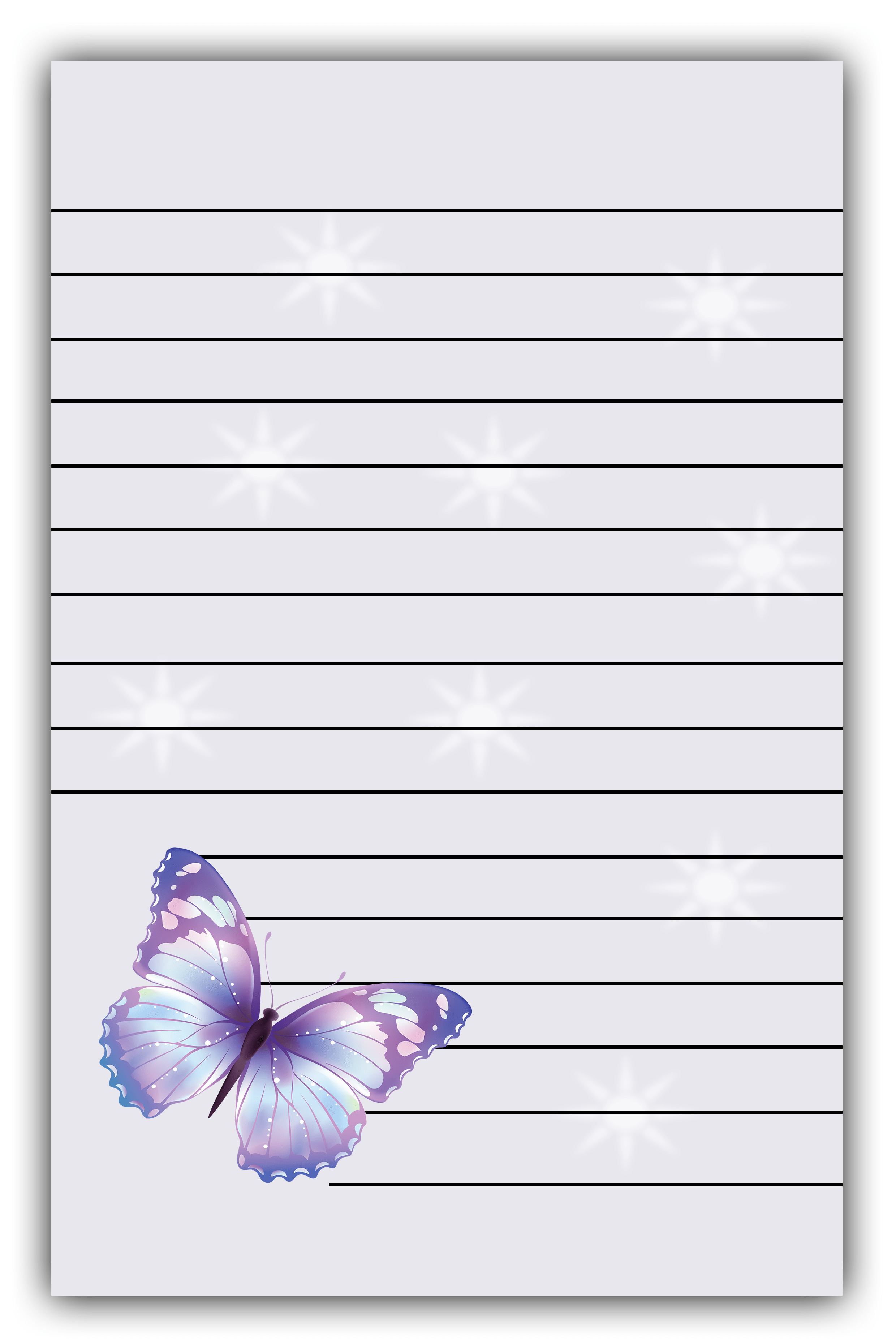 butterfly lined paper-min