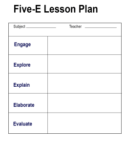 Five-E Lesson Plan
