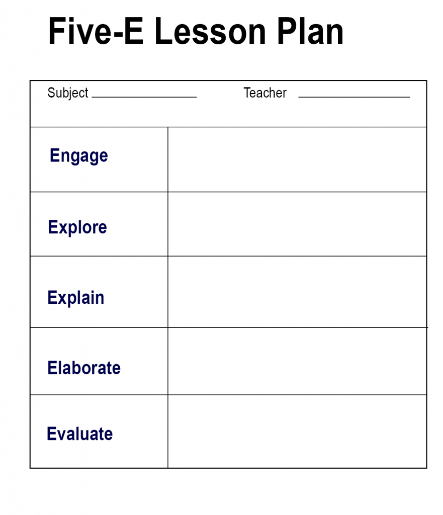 Five-E Lesson Plan