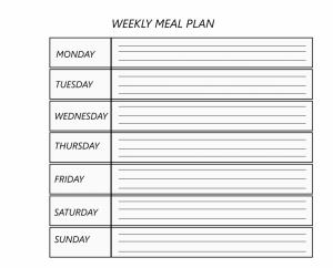 Bi-Weekly Meal Planner