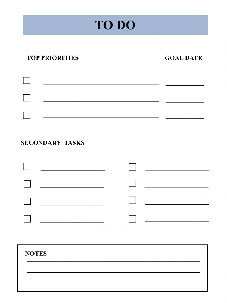 Free Printable To Do List Template In Pdf Excel Word