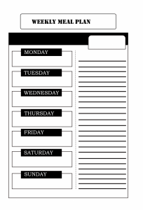 Weekly Meal Planner For Kids
