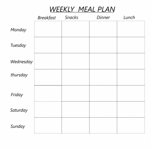 Weekly Meal Planner For a Family