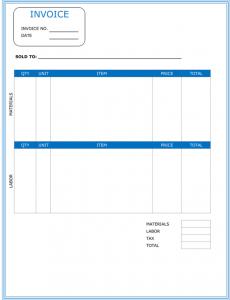 Contractor Invoice Template