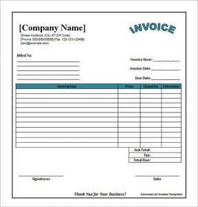 Printable Invoice Template Pdf
