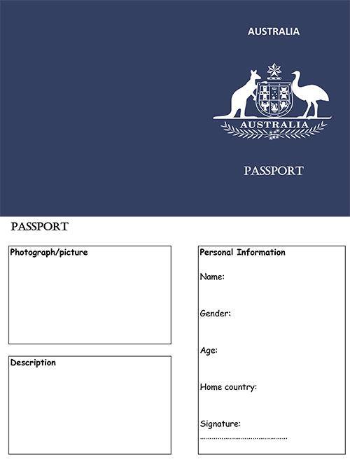 Blank-Australia-Passport-Template