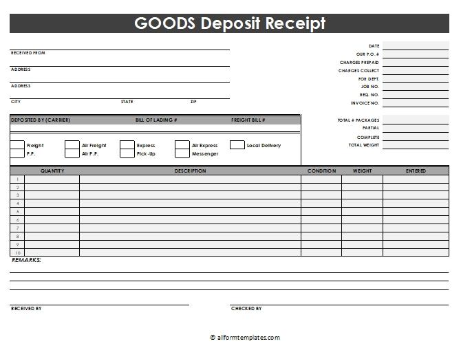 Deposit-Receipt
