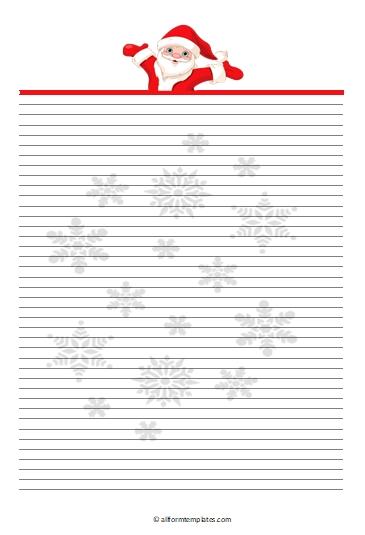 Santa-Line-Paper