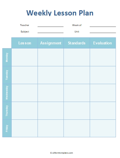Weekly-Lesson-Planner