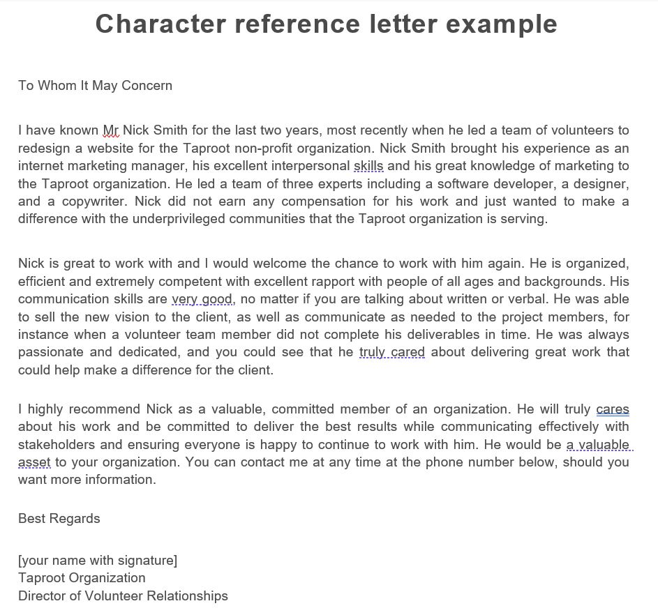character-reference-letter-example