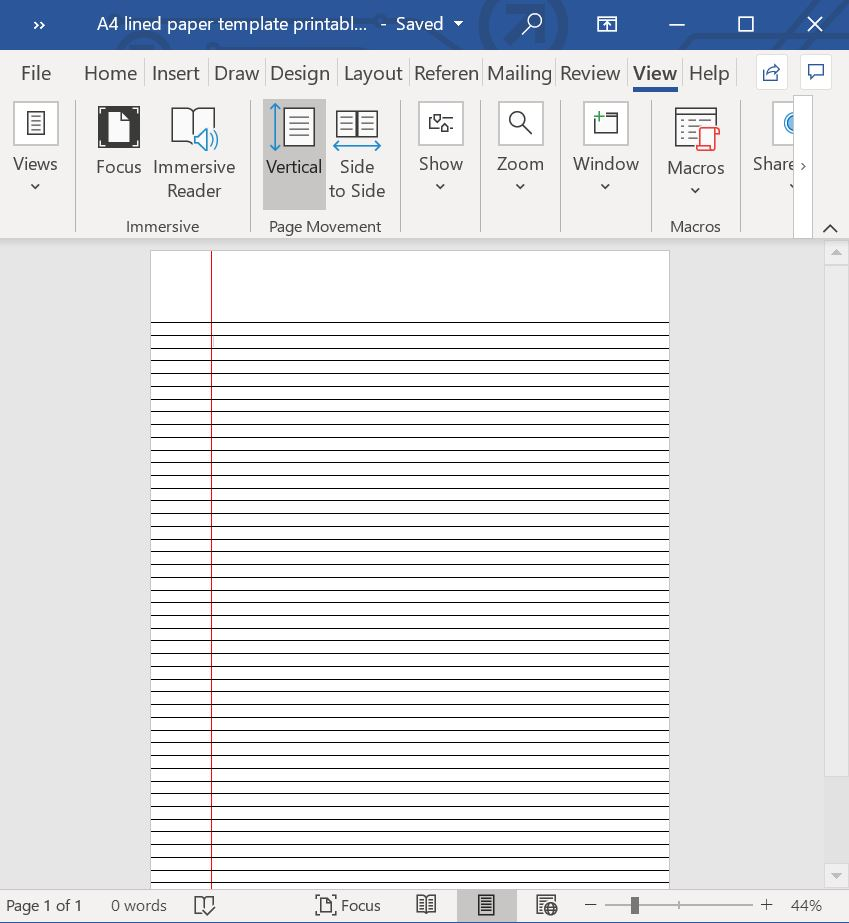 lined paper template printable