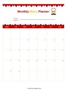 Monthly-Menu-Planner