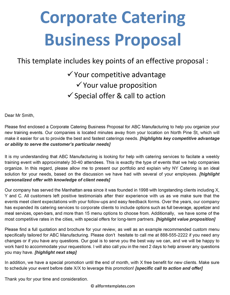 Corporate Catering Business Proposal-NEW
